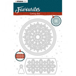 (STENCILSL340)Studio Light Cutting and Embossing Die Winter's Favourites - nr.340