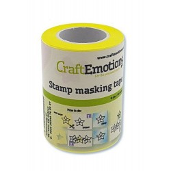 (130501/1940)CraftEmotions stamp masking tape 6 cm - 10 meter