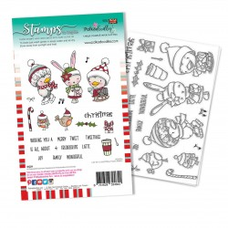 (PD8094A)Polkadoodles Christmas Tweetings Clear Stamps