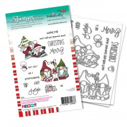 (PD8096A)Polkadoodles Gnomeazing Christmas Clear Stamps