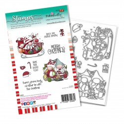 (PD8098A)Polkadoodles Sleigh the Season Clear Stamps