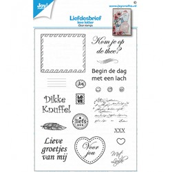(6410/0538)Clear stamp Loveletters (NL)
