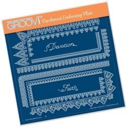 (GRO-PA-41630-03)Groovi Plate A5 TINA'S SPIRITUAL DEVOTION BORDER