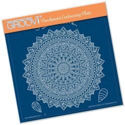 (GRO-PA-41524-03)Groovi Plate A5 TINA'S SPIRITUAL DEVOTION MANDALA