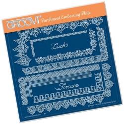 (GRO-PA-41629-03)Groovi Plate A5 TINA'S SPIRITUAL LUCK BORDER
