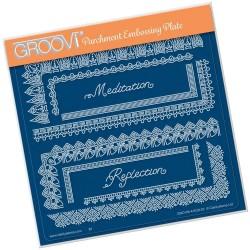 (GRO-PA-41528-03)Groovi Plate A5 TINA'S SPIRITUAL MEDITATION BORDER