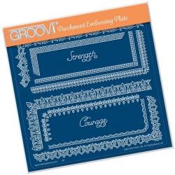 (GRO-PA-41631-03)Groovi Plate A5 TINA'S SPIRITUAL STRENGTH BORDER