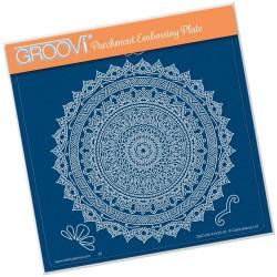 (GRO-PA-41525-03)Groovi Plate A5 TINA'S SPIRITUAL STRENGTH MANDALA