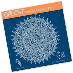 (GRO-PA-41526-03)Groovi Plate A5 TINA'S SPIRITUAL LUCK MANDALA