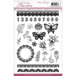 (PMCS10046)Clear Stamps - Precious Marieke - Pretty Flowers