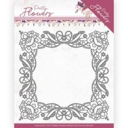 (PM10188)Dies - Precious Marieke - Pretty Flowers - Lace Frame
