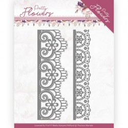 (PM10189)Dies - Precious Marieke - Pretty Flowers - Lace Border