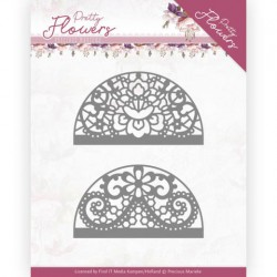 (PM10191)Dies - Precious Marieke - Pretty Flowers - Lace Circle