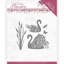 (PM10192)Dies - Precious Marieke - Pretty Flowers - Pretty Swans