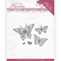 (PM10193)Dies - Precious Marieke - Pretty Flowers - Pretty Butterflies