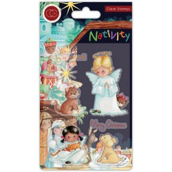 (CCSTMP050)Craft Consortium Nativity Clear Stamps Angels