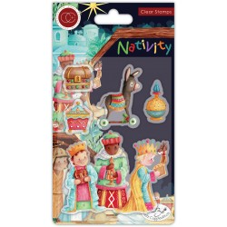 (CCSTMP048)Craft Consortium Nativity Clear Stamps Three Wise Men