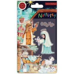 (CCSTMP047)Craft Consortium Nativity Clear Stamps Nativity