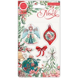 (CCSTMP044)Craft Consortium Noel Clear Stamps Decorations