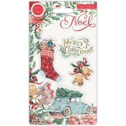 (CCSTMP045)Craft Consortium Noel Clear Stamps Festivity
