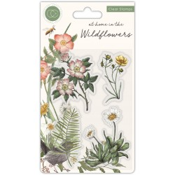 (CCSTMP036)Craft Consortium At Home in the Wildflowers Clear Stamps Flora of the Bunch