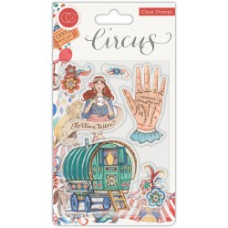 (CCSTMP034)Craft Consortium Circus Fortune Teller Clear Stamps