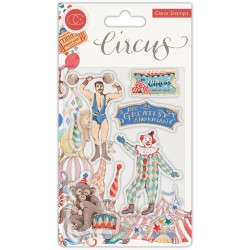 (CCSTMP035)Craft Consortium Circus Greatest Show Clear Stamps