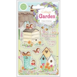 (CCSTMP031)Craft Consortium Cottage Garden Birds and the Bees Stamps