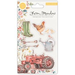 (CCSTMP024)Craft Consortium Farm Meadow Clear Stamps
