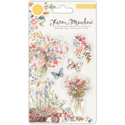 (CCSTMP027)Craft Consortium Florals Clear Stamps