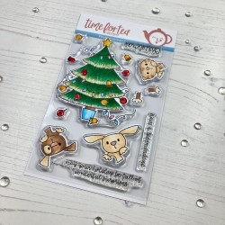 (T4T/412/Chr/Cle)Time For Tea Christmas Surprise Clear Stamps