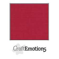 (001232/1200)CraftEmotions linen cardboard 10 Sh Christmas red LHC-07 A4 250gr