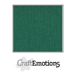 (001232/1020)CraftEmotions linen cardboard 10 Sh Christmas green LHC-36 A4 250gr