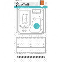 (STENCILSL344)Studio Light Cutting and Embossing Die Essentials - nr.344