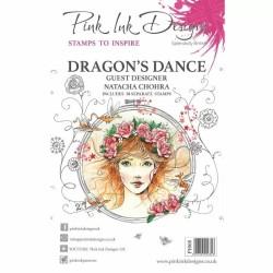 (PI068)Pink Ink Designs Clear stamp Dragon's dance