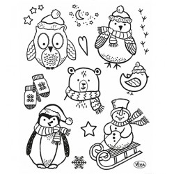 (4003 224 00)Clear Stamps - Little Winter Friends