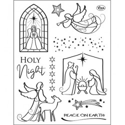 (4003 226 00)Clear Stamps - Holy Night