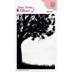 (SIL074)Nellie`s Choice Clearstamp - Silhouette Tree-2