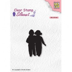 (SIL075)Nellie`s Choice Clearstamp - Silhouette Close Friends