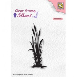 (SIL077)Nellie`s Choice Clearstamp - Silhouette Bulrushes-2