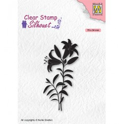 (SIL078)Nellie`s Choice Clearstamp - Silhouette Lily