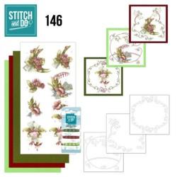 (STDO146)Stitch and Do 146 - Precious Marieke - Pretty Flowers - Red Flowers