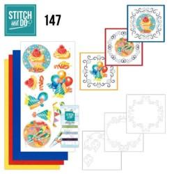 (STDO147)Stitch and Do 147 - Jeanine's Art - Happy Birthday