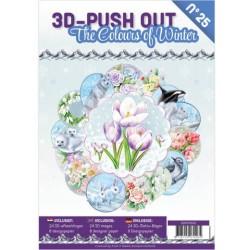 (3DPO10025)3D Push Out boek 25 - The Colours of Winter