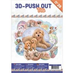 (3DPO10026)3D Push Out boek 26 - Pets