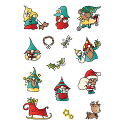 (LDRSPD224)LDRS Creative Holiday Gnomes Set4x6 Inch Clear Stamps