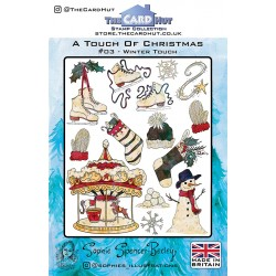 (SSB006)The Card Hut Winter Touch Clear Stamps