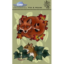 (CEDFM)The Card Hut Fox and Mouse Clear Stamps