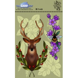 (CEDSG)The Card Hut Stag Clear Stamps