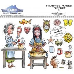 (MBGSPP)The Card Hut Garden Sheds: Practice Makes Perfect Clear Stamps